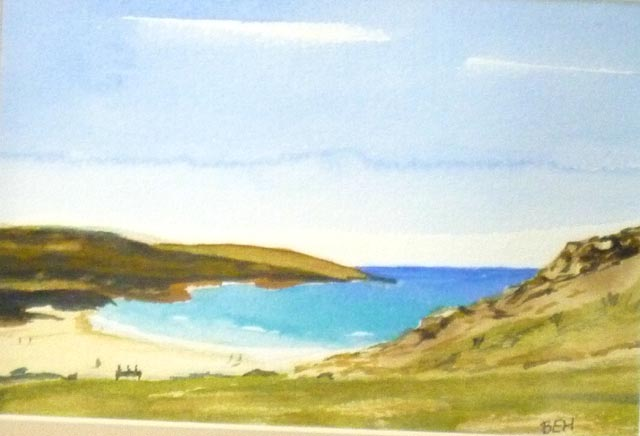 Manoir Du Hilguy. Cornish Beach, Watercolour