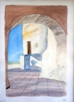 09 - The Archway - Watercolour - Ian Chadwick.JPG