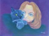 20 - Jenny with Charley - Pastel - Margaret Cross.JPG