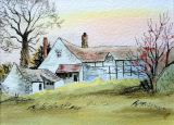 22 Barbara Hilton 'Cottage in Colwall' Watercolour.JPG