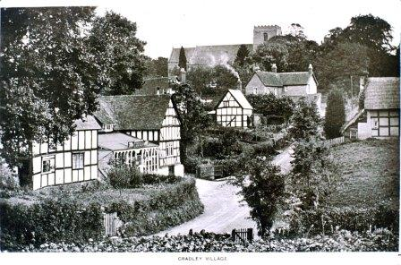 Churchyard from Penny Cottage in 1930s