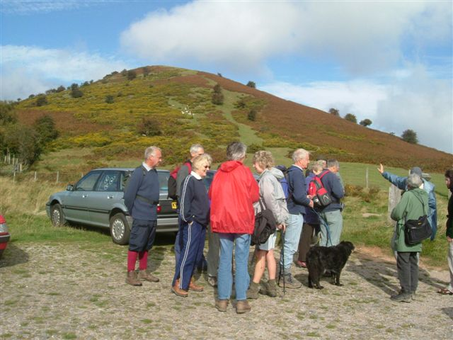 Cradley Walkers gather to climb the Cat's Back in the Black Mountains
